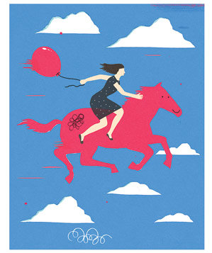 illustration-woman-balloon-horse
