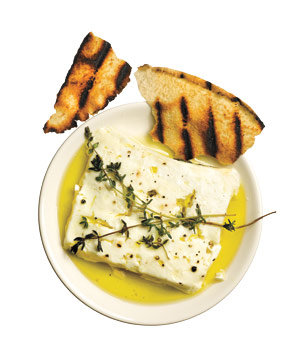 Grilled Feta With Thyme Recipe | Real Simple