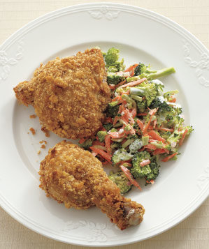 oven-fried-chicken-broccoli-slaw