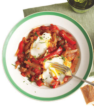 poached-eggs-peppers-onions