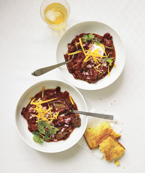 Slow-Cooker Smoky Beef and Bean Chili Recipe | Real Simple