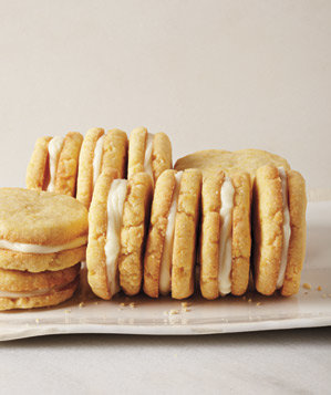 Lemon Cornmeal Sandwich Cookies Recipe | Real Simple