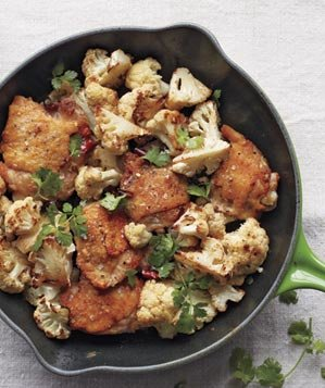 chicken-thighs-cauliflower-cilantro