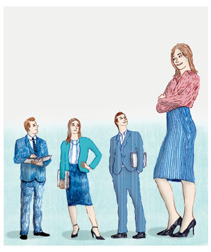 illo-three-small-people-one-tall