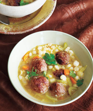 smoky-meatball-vegetable-soup
