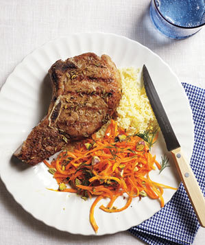 pork-chops-carrot-salad