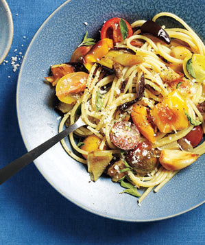 Roasted Summer Vegetable Pasta Recipe | Real Simple