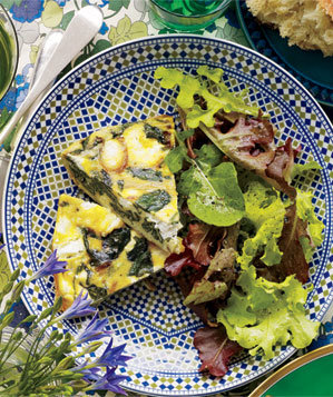 spinach-goat-cheese-frittata