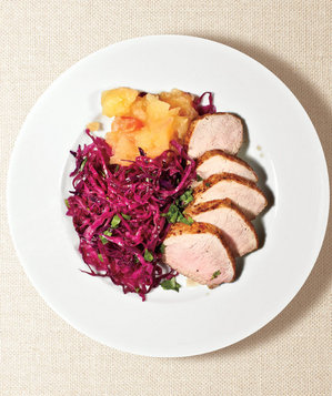 pork-tenderloin-cabbage-applesauce