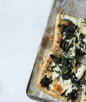 Broccoli Rabe and Pecorino Tart Recipe | Real Simple