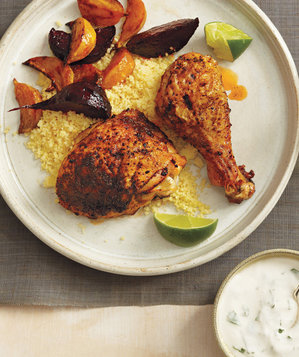 roasted-chicken-beets-couscous