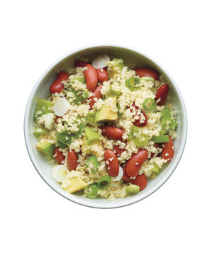 beans-avocado-scallion-couscous