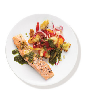 salmon-pesto-vegetables