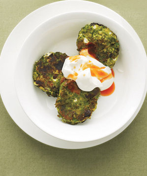 Swiss Chard and Chickpea Fritters With Yogurt Recipe | Real Simple