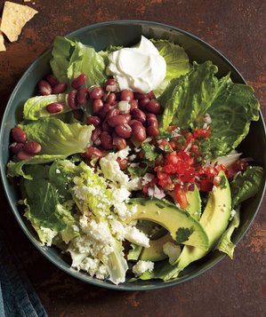 Taco Salad With Pinto Beans and Avocado Recipe | Real Simple