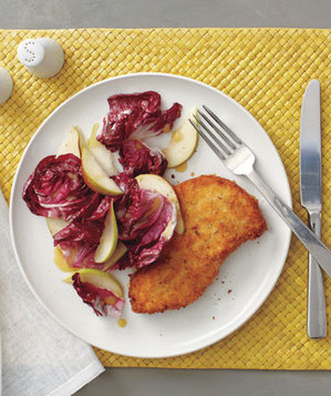 crispy-chicken-radicchio-pear-salad