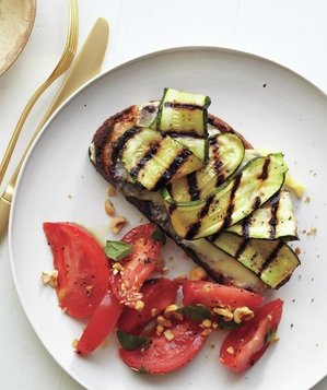 Zucchini Melts with Tomato Salad from Real Simple [Meal Planning at A Little Seed Grows - Blog]