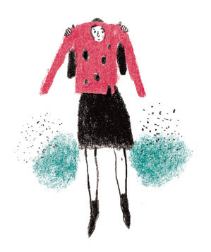illustration-woman-sweater-holes