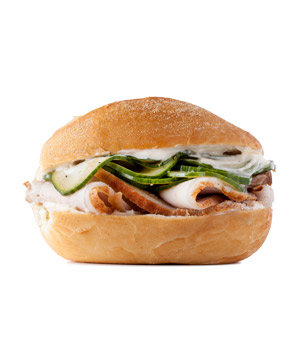 Roast Pork and Pickled Cucumber Sandwich Recipe | Real Simple