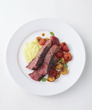 steak-roasted-peppers-tomatoes-polenta