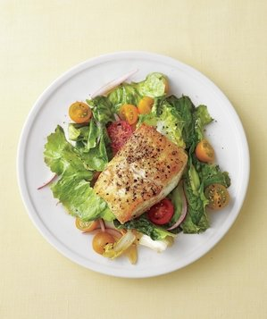 seared-fish-withtomatoes-garlic-escarole
