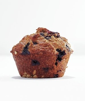 Banana-Blueberry Bran Muffin Recipe | Real Simple