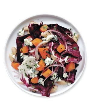 carrot-bean-radicchio-salad