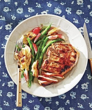 pork-chops-green-beans-salad