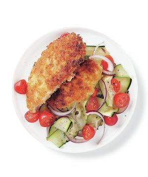chicken-cutlets-zucchini-salad