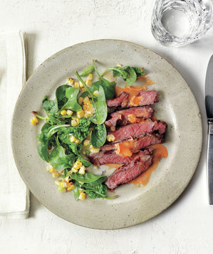 steak-corn-spinach
