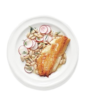 bass-bean-radish-salad-dill