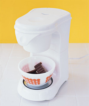 coffeemaker-used-to-soften-chocolate