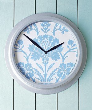 wallpaper-used-to-decorate-clock