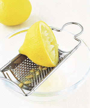 grater-used-to-strain-citrus