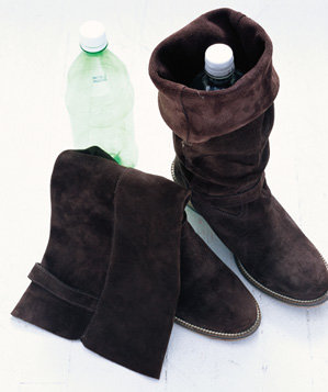 soda-bottle-used-to-shape-boot
