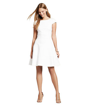 Banana republic seamed fit and flare dress 7 cute for Banana republic wedding dresses