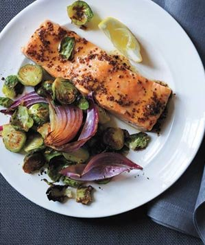 maple-glazed-salmon-roasted-brussels-sprouts