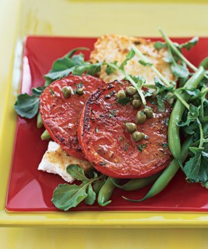 pan-grilled-tomato-feta-salad-lemon-caper-dressing