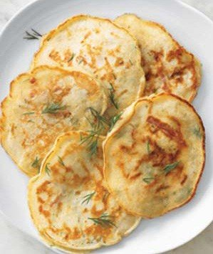 dill-pancakes-country-ham-cheese