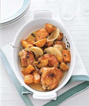 Maple-Roasted Chicken With Sweet Potatoes Recipe | Real Simple