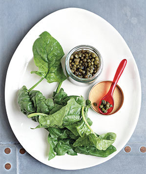 spinach-capers