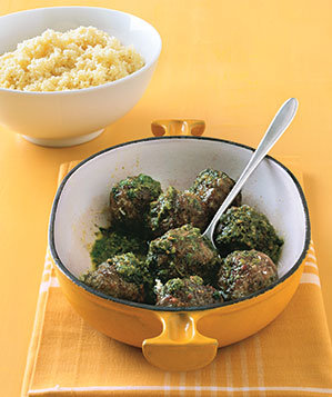 pesto-meatballs-couscous