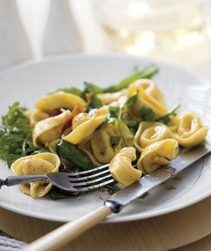 tortellini-bacon-greens-brown-butter