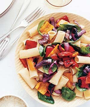 rigatoni-grilled-peppers-onions