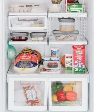 How to store food in the refrigerator real simple Can you put hot food in the refrigerator