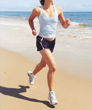 woman-jogging-beach