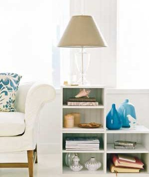 create a side table 20 low cost decorating ideas real simple