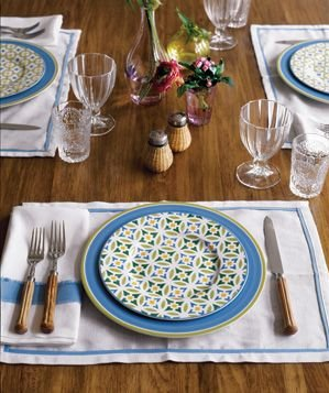 Table Setting For Lunch : ... -patterned salad plates.  Beautiful Table Settings  Real Simple