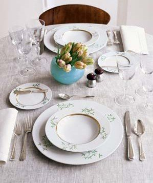 How to set a pretty table real simple - Set de table matelasse ...