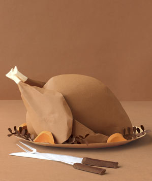 paper-sculpture-thanksgiving-turkey-serving-pieces